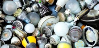 LED lamp waste